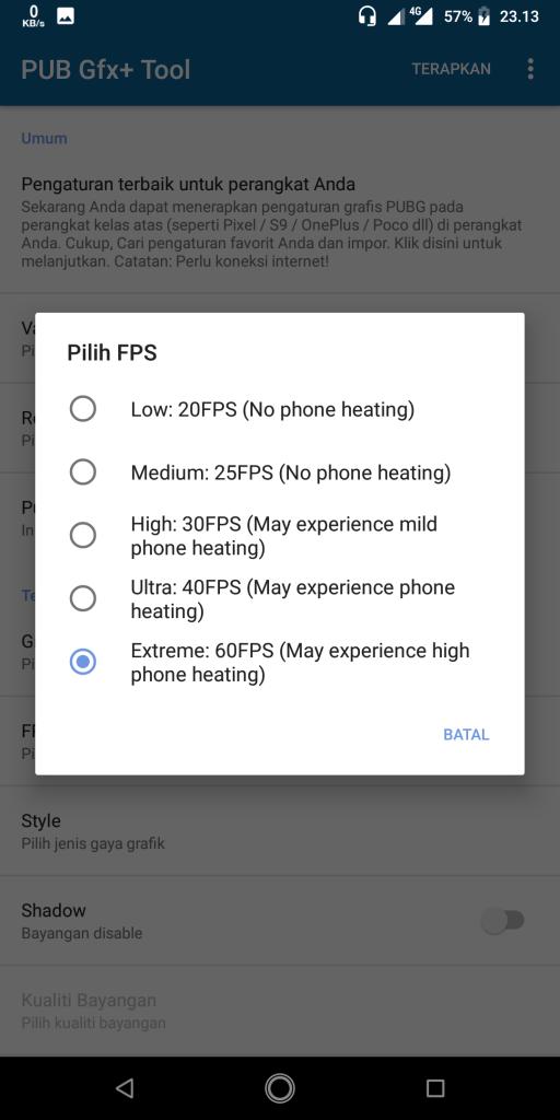 fps pubg mobile