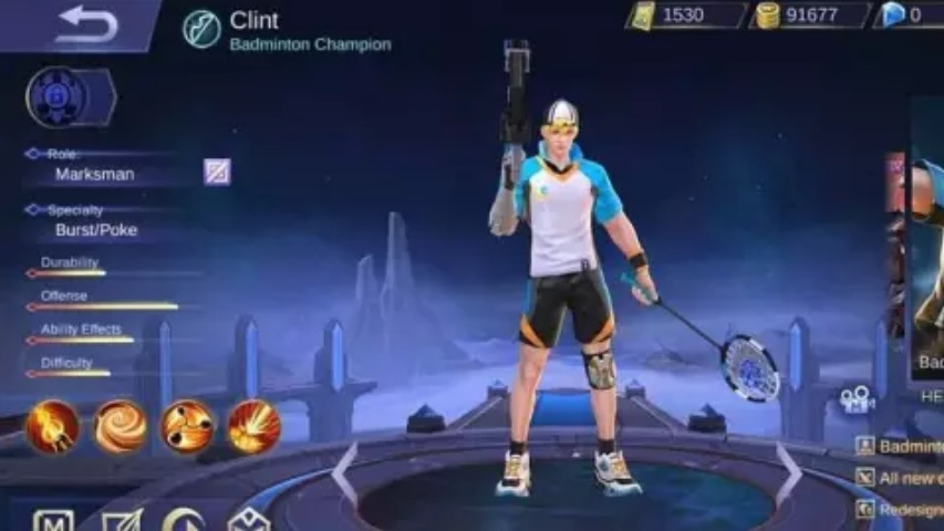 Skin Clint Mobile Legends Juli 2019