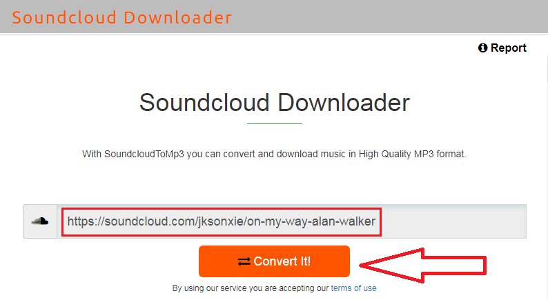 Download Mp3 Soundcloud via scdownloader.io