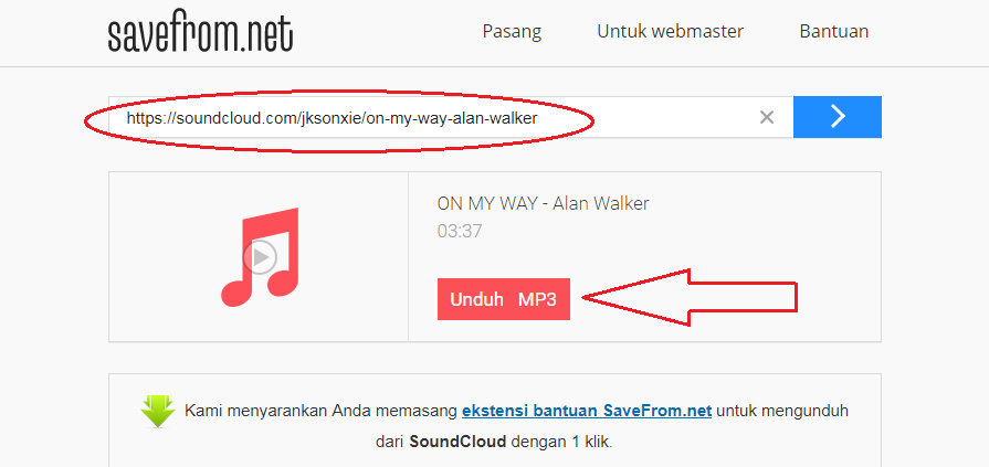 Download Mp3 Soundcloud via Savefrom.net