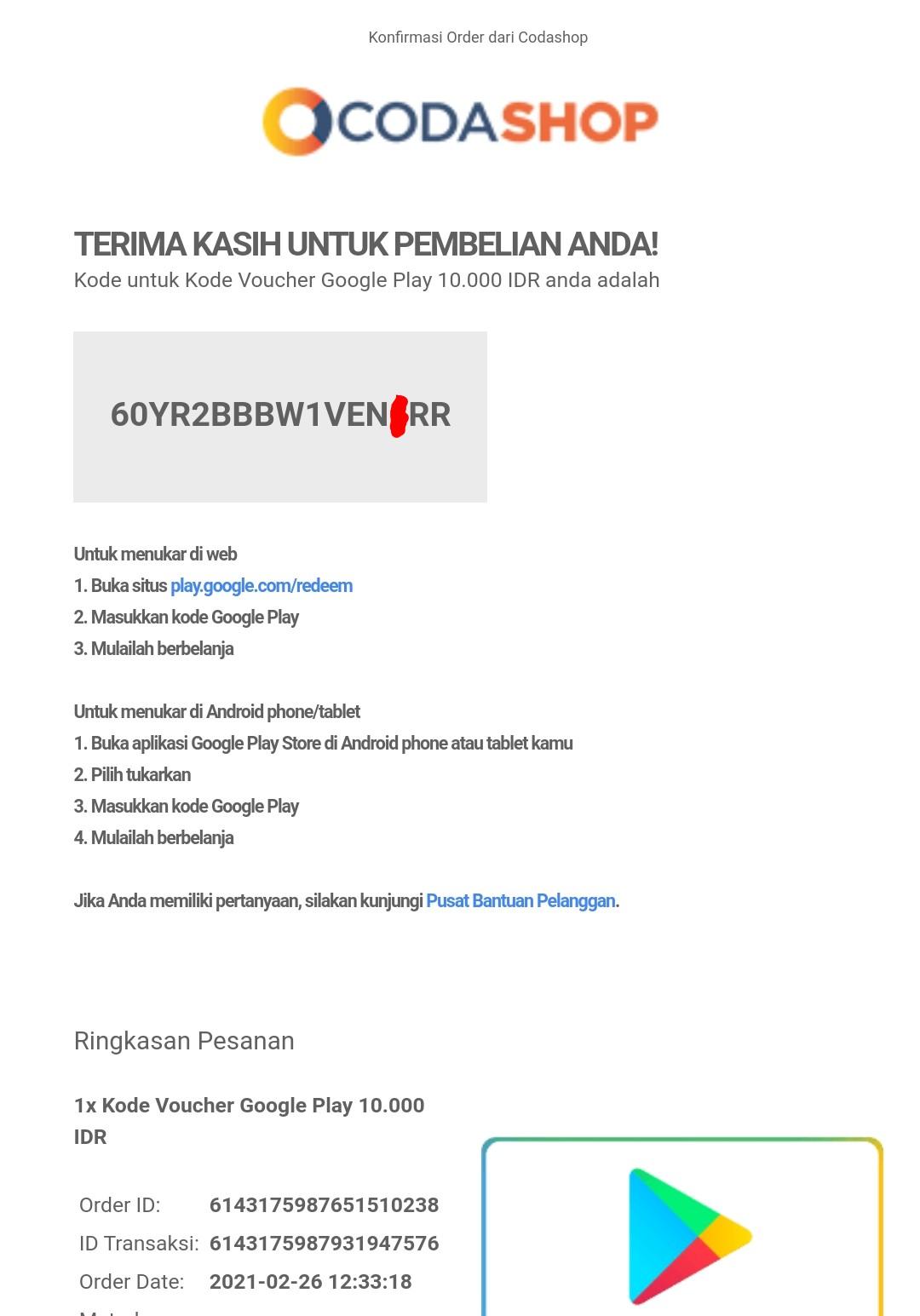 Kode Voucher Google Play Gratis Langsung Redeem 2021 Tukangoprek